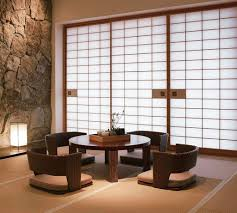 Japanese Living Room Modern Zaisu Chairs And Round Table In Japanese Living Room With