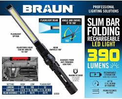 Braun Magnetic Slim Bar Led Work Light Magnetic Slim Bar Folding Led Worklight Adjustable Head
