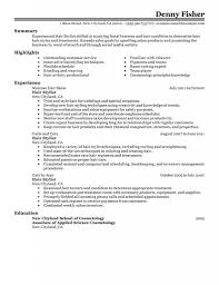 Resume Examples For Cosmetologist Resume For Cosmetology Templates Cosmetologist Examples Picture 20