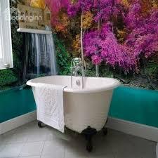 Decorative Waterfalls Natural Scenery Pattern Waterproof 3D Bathroom Wallpaper Murals