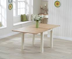 cream compact extending dining table: sandringham country oak amp cream flip top extending square ft dining table extends to ft