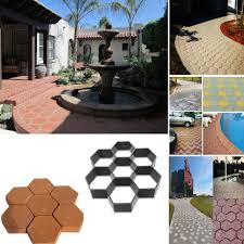usa diy driveway paving stone mold concrete stepping pathmate pavement mould
