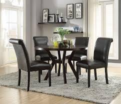acme 16250 59759 5 pc drake espresso finish wood 48 round dining table set