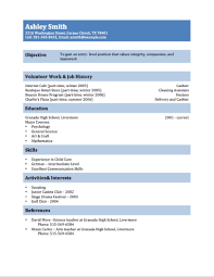 Teenage Resume Template 12 Free High School Student Resume Examples For  Teens