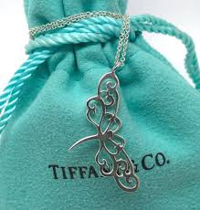 tiffany co enchant dragonfly pendant necklace in sterling silver