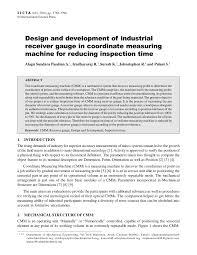 Receiving Gauge Design Pdf Design And Development Of Industrial Receiver Gauge In