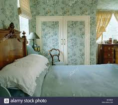 Teal Bedroom Wallpaper Blue White Wallpaper In Bedroom Stock Photos Blue White
