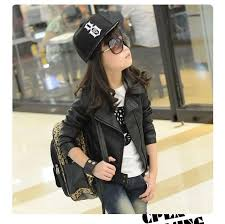 new baby girl leather jacket kids girls and coats spring kids leather jackets girls casual black