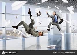 Playing Office Soccer Mixed Media Stock Photo Sergeynivens