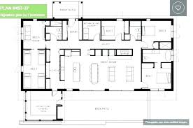 4 bedroom home plans one story house simple