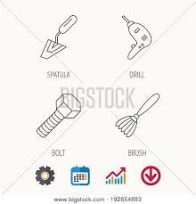 Spatula Tool Drill Vector Photo Free Trial Bigstock