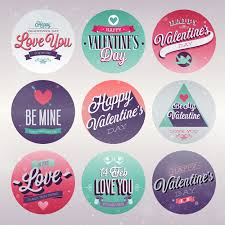 vine valentine day ornament labels vector 01