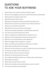 A Great List Of Questions To Ask Your Boyfriend Life Quotes
