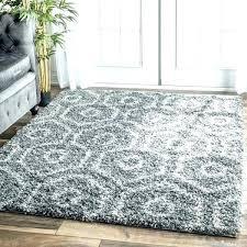 light grey fluffy rug soft and plush keyhole trellis dark gy modern home interior decorat