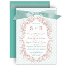 orange and turquoise wedding invitations. blue wedding invitations: modern flourish invitation orange and turquoise invitations c