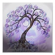 Lavendar Tree Of Life Poster Zazzlecom Stromy Tetování Strom