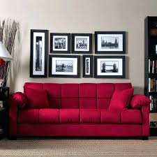 red leather sleeper sofa handy living convert a couch microfiber in crimson the color red leather sleeper sofa chic full size