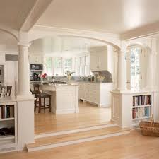 Kitchen Bookcase Lacquer Bookcase In Kitchen Traditional With Bookshelves Archway