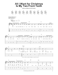 all i want for christmas is my two front teeth sheet music sheet music digital files to print licensed easy guitar with tab