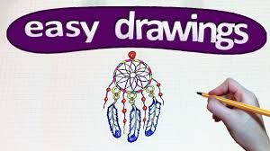 Pictures Of Dream Catchers To Draw Easy drawings 100 How to draw a Dreamcatcher YouTube 59