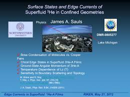 Edge Currents In Superfluid 3 He-A Films Riken, May 21, 2012 Surface ...