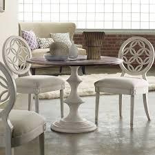 melange brynlee wood round dining table in walnut white