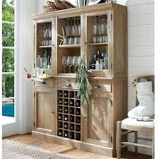 pottery barn 6 piece modular bar wall unit 2 wood door cabinet 1 a liked on featuring home furniture storage shelves media