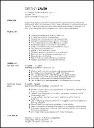 Business Resumes Template Free Entry Level Corporate Trainer Resume Template Resume Now