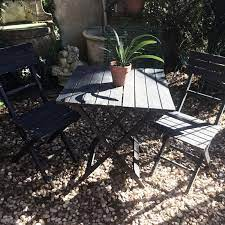 vintage wooden garden table two chairs