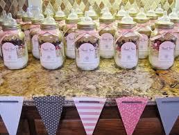 mason jar baby bottle party favors table decorating ideas