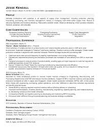 Resume Templates Master Scheduler Sample Examples Example Production
