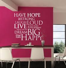 decorating office walls. have hope be strong sticker decorating office walls u