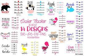 We offer svg files for cricut, silhouette cameo and other vinyl cutting machines for all your crafting projects. Water Bottle Svg Bundle Water Bottle Tracker Svg 95877 Svgs Design Bundles