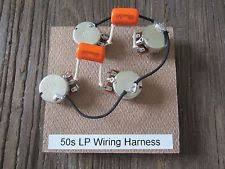 les paul pots parts accessories 50s les paul wiring harness bourns 500k short shaft pots orange drop 022
