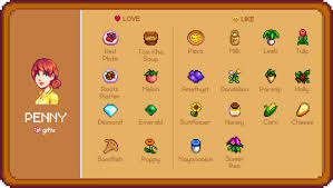 Gifts For Penny Stardew Valley