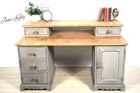 pine office chair. Stunning Pine Office Chair Rustic Furniture Vintage Desk Homemade Chalk Paint G
