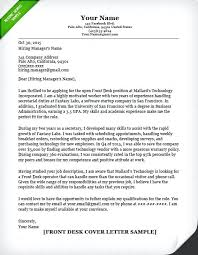 Cover Letter Examples Receptionist Reception Cover Letter Examples Front Desk Cover Letter Sample