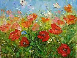 flower paintings handmade livemaster handmade small oil painting on canvas with erflies