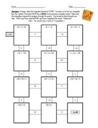 1000+ images about Inequalities on Pinterest | Common cores, Task ...7th Grade Math Common Core: Solving Inequalities Maze Worksheet