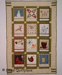 Embroidered Country Calendar Quilt | 3d craft, Quilt tutorials and ... & Embroidered Country Calendar Quilt Adamdwight.com