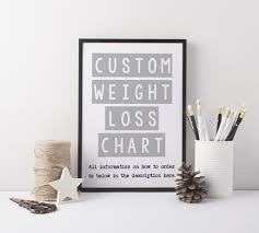 Make Your Own Weight Loss Chart Custom Weight Loss Chart Handmade Personalised Slimming World Weight Watchers Diet Chart Pounds Custom Weight Chart Tracker Weight