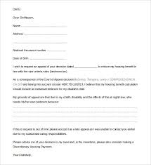 Letter Of Appeal Sample Template Best 28 Appeal Letter Templates Free Sample Example Format Download