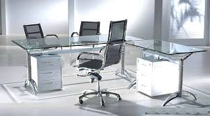 chrome office desk. Glass Chrome Desk Office S For With Sawhorse Legs