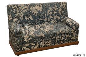 old fashioned sofa on white background