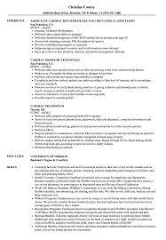 Cardiac Resume Samples Velvet Jobs