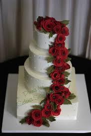 Red White Wedding Cakes Stylish Eve