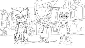 Pj Masks Coloring Pages Movies And Tv Show Coloring Pages