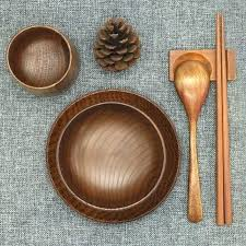 wooden dinnerware set friendly and natural big handmade wooden wooden dinnerware set bowl chopsticks wooden plates