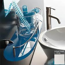 Lowes Bathroom Shelves Shop Nameeks Kor Chrome White Plastic Bathroom Shelf At Lowescom