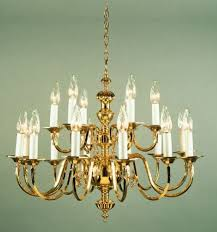 12 light polished brass chandelier